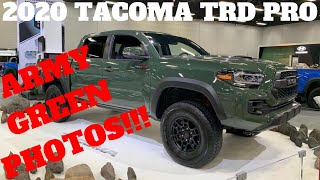 Zapętlaj 2020 TOYOTA TACOMA TRD PRO ARMY GREEN PHOTOS!! IT'S HERE!! | Blue TRD Jon