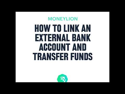 How to link an external bank account and transfer funds