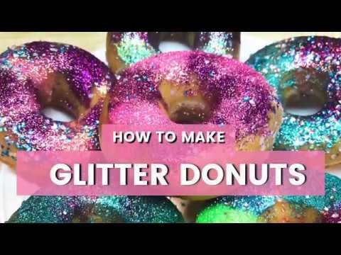 42c9de3662a49 Glitter Donuts DIY: Unicorn, Mermaid, Galaxy, and Rainbow