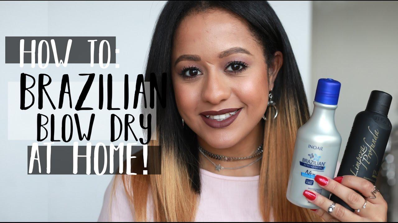 HOW TO: BRAZILIAN BLOW DRY/KERATIN HAIR TREATMENT AT HOME | SIANA