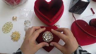 Kalp Şeklinde Kadife Takı Kutusu Yapımı - DIY #22