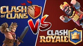 CLASH OF CLANS Vs. CLASH ROYALE!
