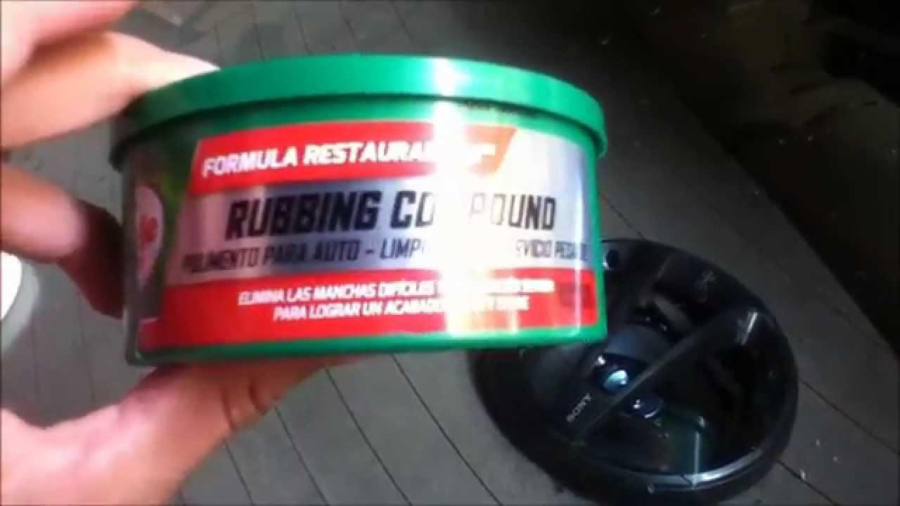 Como pulir cristal automotriz parabrisas facil y rapido - Como pulir faros de coche ...