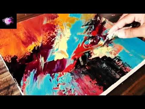 Cara Melukis Abstrak Di Kanvas