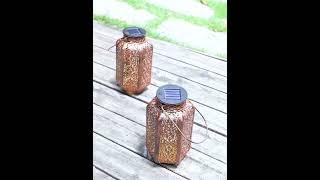 태양광 충전 LED 스틸 램프 거실등 야외 정원 잔디 …