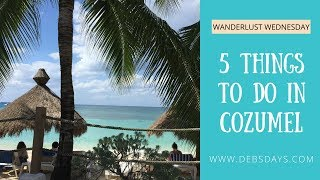 5 Things to do in Cozumel, Mexico