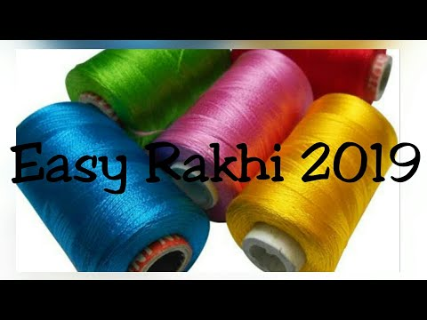 Latest Rakhi Design/Raksha Bandhan2019/How to make pearl bracelet/Rakhi making art/Silk thread Rakhi