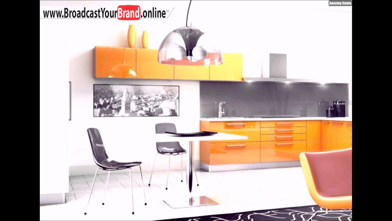 Retro Gelbe Küche Schwarz Weiße Fotos Wand - YouTube