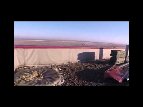 Ukraine War -  Close Call For Rebel During Close Combat With Ukrainian Tanks At Donetsk Airport