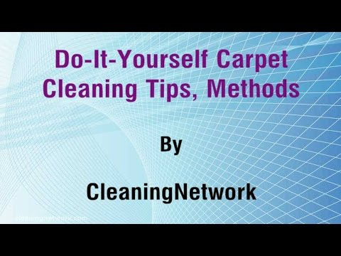 Carpet Cleaning Tips Do It Yourself Youtube