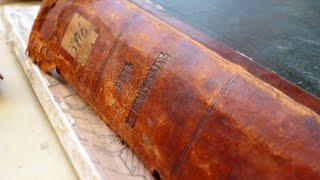 Книги до и после реставрации (Челябинская ОУНБ)