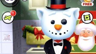 МОЙ ГОВОРЯЩИЙ ТОМ 36 ТОМ СНЕГОВИК Новогодний Том Tom Virtual Pet ИГРА МУЛЬТИК ЛенаPlay для детей