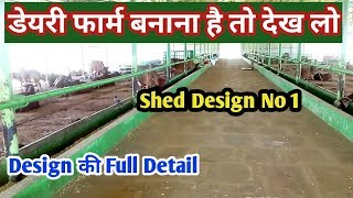 डेयरी फार्म कैसा बनाएं | How to Make/Start Dairy Farm in India |Shed Design 2019