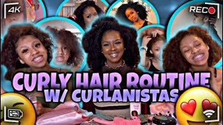 Curly Hair Routine With Curlanistas | TheWickerTwinz