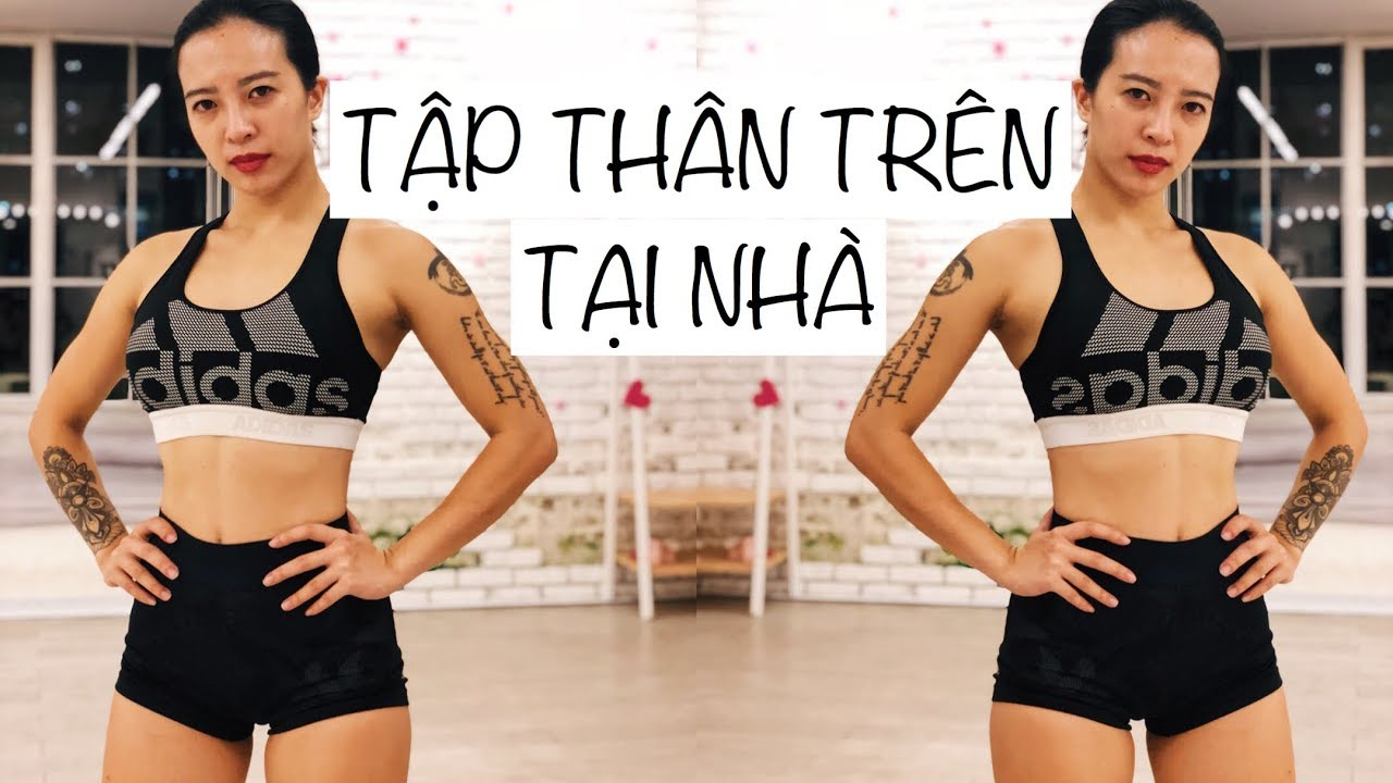 Bài tập giảm mỡ thân trên tại nhà 💪   Workout #110   Hana Giang Anh