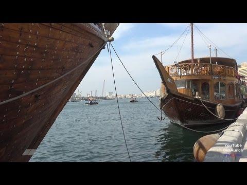 VAE Dubai Schiffe am Creek Dhaufahrt Marine Transport Service Creek Al Sabkha Station Water Taxi