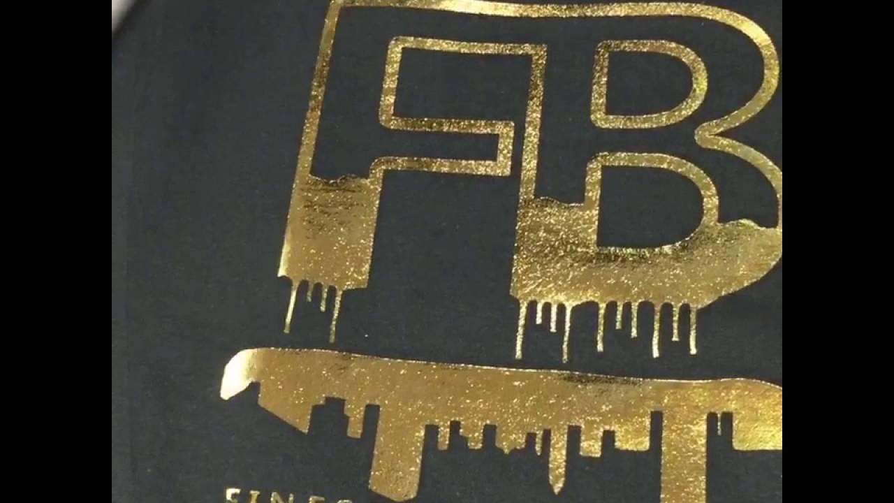Gold Foil Screen Print Youtube