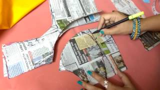 Double katori blouse marking and cutting