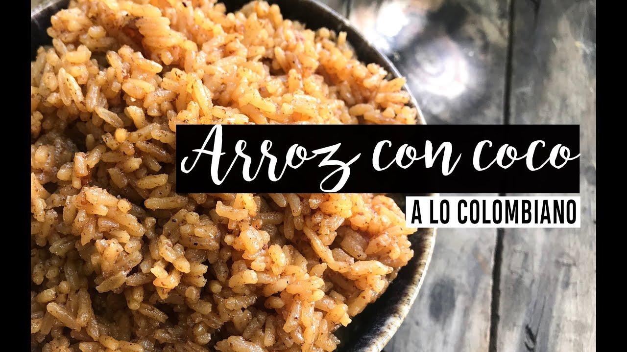 Cómo hacer ARROZ CON COCO Colombiano //Leche de coco ...