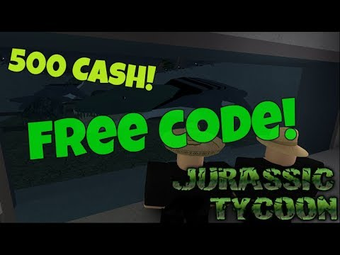 Roblox Jurassic Tycoon 500 Cash Code Youtube