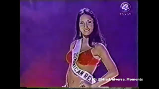 Amelia Vega during Preliminary Miss Universe 2003