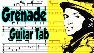 Learn How to Play Grenade Fingerstyle Acoustic Guitar Lesson TABS Bruno Mars