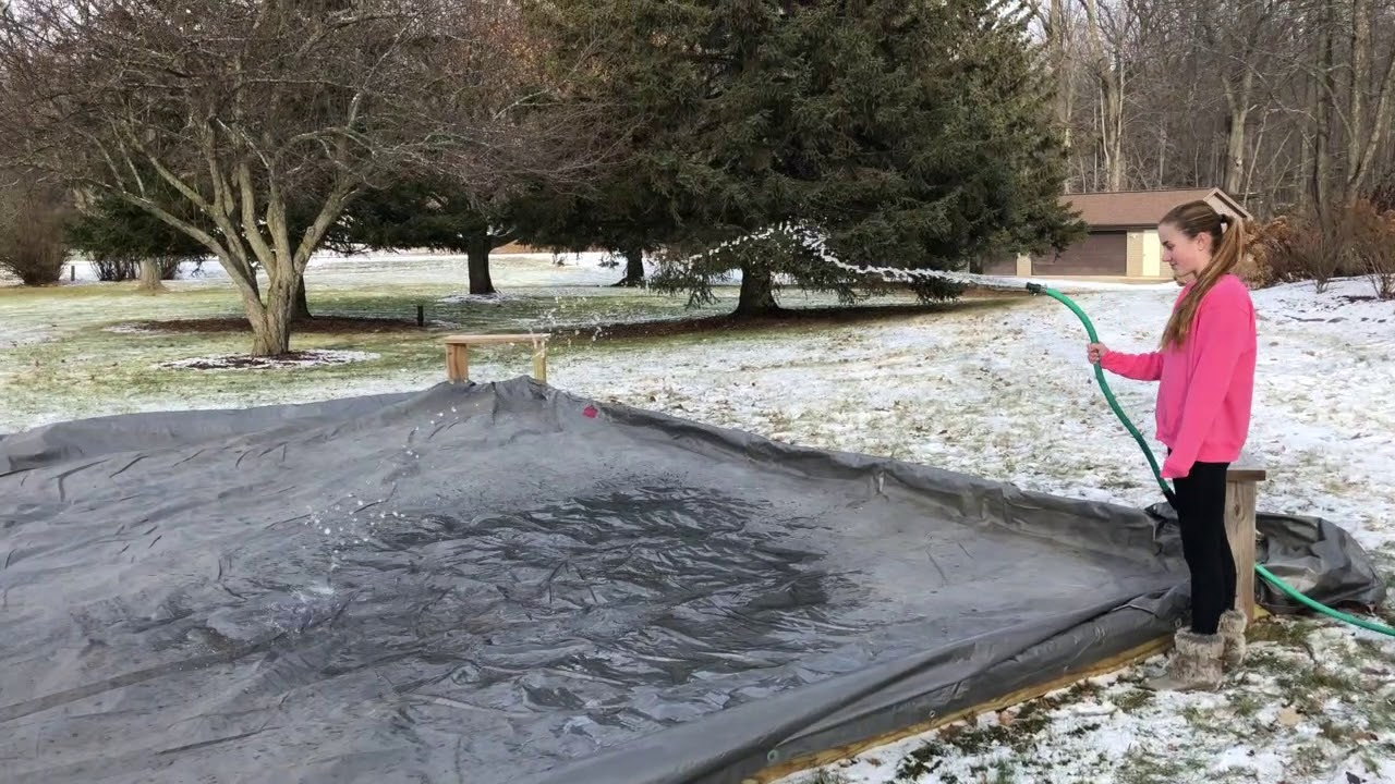 Building the Backyard Ice Rink! - YouTube