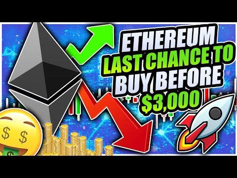 ETHEREUM MILLIONAIRE IN 2021!!! LAST CHANCE BEFORE $3,000!!! BITCOIN SHOWING LESS STRENGTH