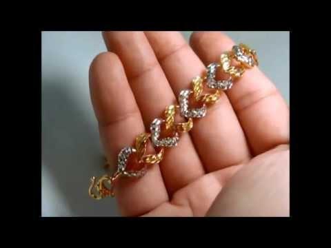 br0013 22k 916 stunning solid gold bracelet very fine