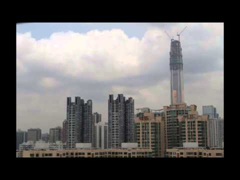 24 hours of building the Ping An Finance Centre, Shenzhen  (Timelapse)