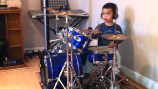 killing in the name of by ratm drum cover 3 years old drummer