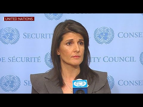 Nikki Haley addresses Iran protests, North Korea at U.N.