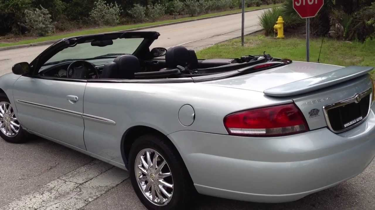 2002 chrysler sebring limited view our current inventory at fortmyerswa com youtube