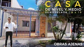 CASA de NIVEL y MEDIO REMODELADA | 8 X 19 | OBRAS AJENAS