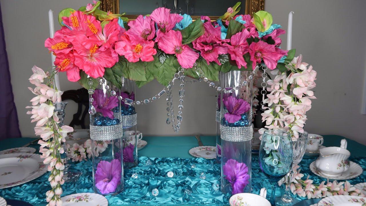 Diy Elegant Wedding Centerpiece Youtube