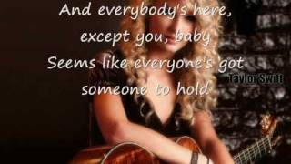 Taylor Swift Christmases When You Were Mine complete with lyrics