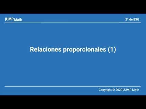 2º ESO. Unidad 5. Relaciones proporcionales I