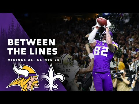 Between The Lines: Minnesota Vikings 26, New Orleans Saints 20