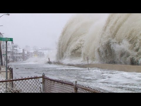 Super Storm Nemo Blizzard Monster Waves  津波