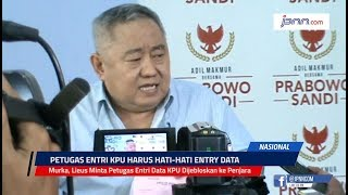 Murka, Lieus Minta Petugas Entri Data KPU Dijebloskan ke Penjara - JPNN.COM