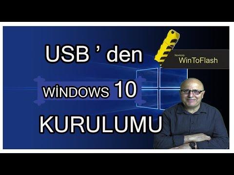 Windows 10 Kurulumu Sesli Anlatım ( USB Den Kurulum )