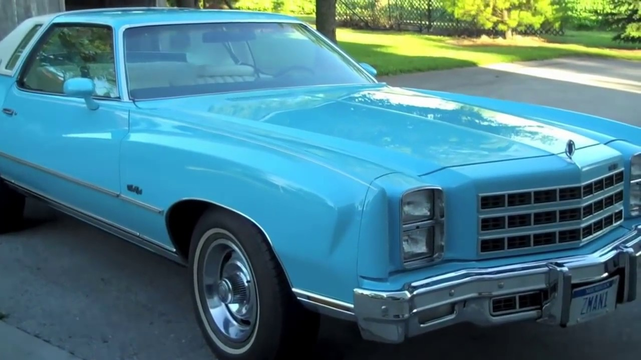 1977 Monte Carlo Up 4 Sale 1 Of Only 7 In Robin Egg Blue Youtube