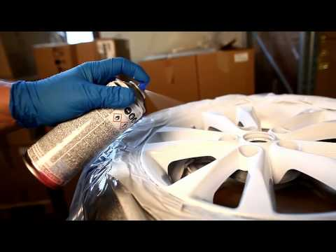 Coat car wheels with synthetic rubber spray tutorial