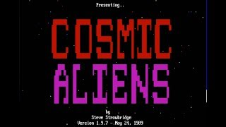 Cosmic Aliens 1.9.7 - PC DOS game by ogStevieStrow from 1988