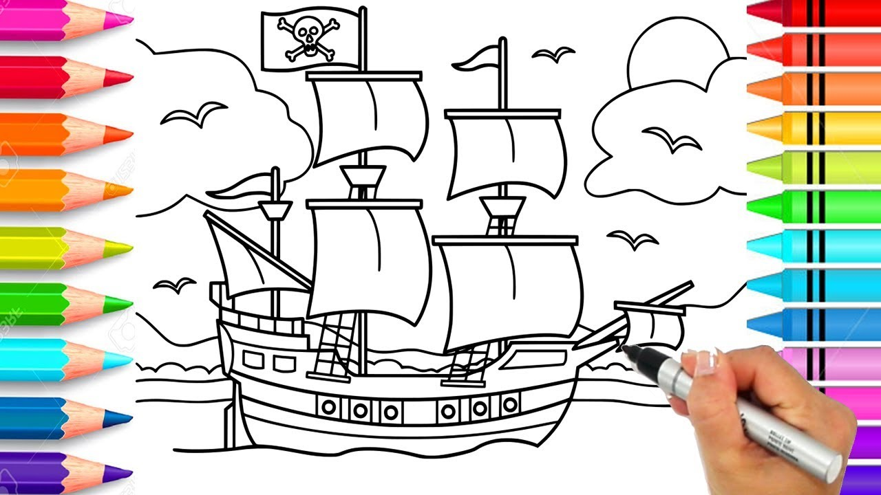 Pirate Ship Coloring Page Pirate Coloring Book Printable Pirate