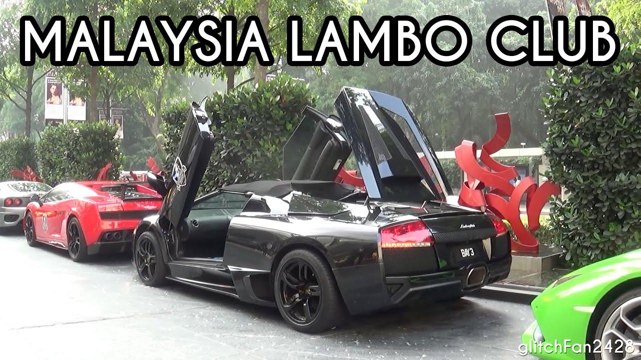 Lamborghini Owners Club Malaysia St Regis Hotel Arrival Youtube