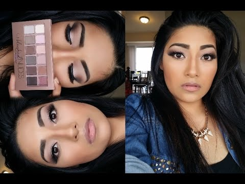 New Maybelline: The blushed nudes palette makeup tutorial