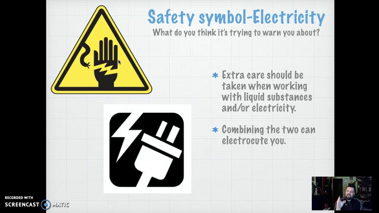 Lab Safety Symbols Youtube