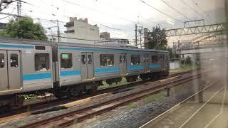 【車窓】JR琵琶湖線223系2000番台 A普通 京都駅手前奈良線205系並走!!