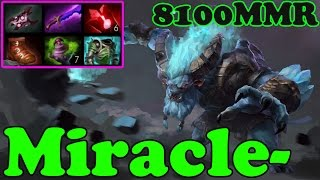 Dota 2 - Miracle- 8100 MMR Plays Spirit Breaker - Ranked Match Gameplay